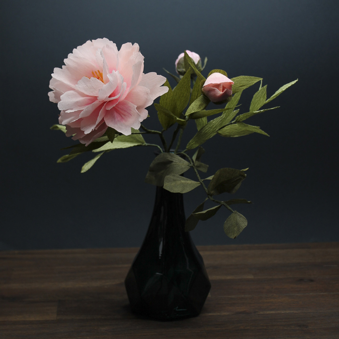 tina kraus crepe paper objects peony