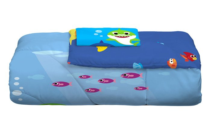 walmart exclusive baby shark bedding comforter sham combo set