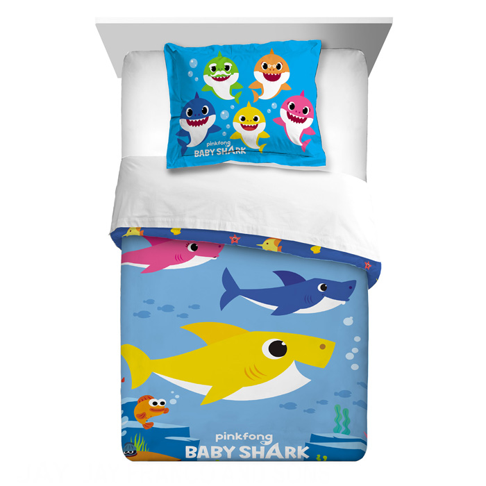 walmart exclusive baby shark bedding comforter sham set