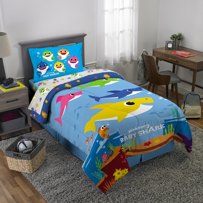walmart exclusive baby shark bedding comforter sham
