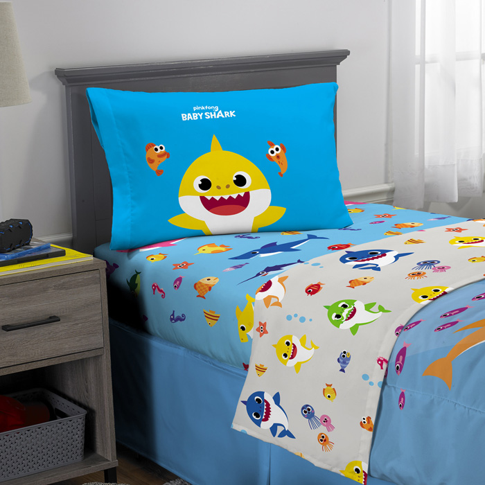 walmart exclusive baby shark bedding complete set twin detail
