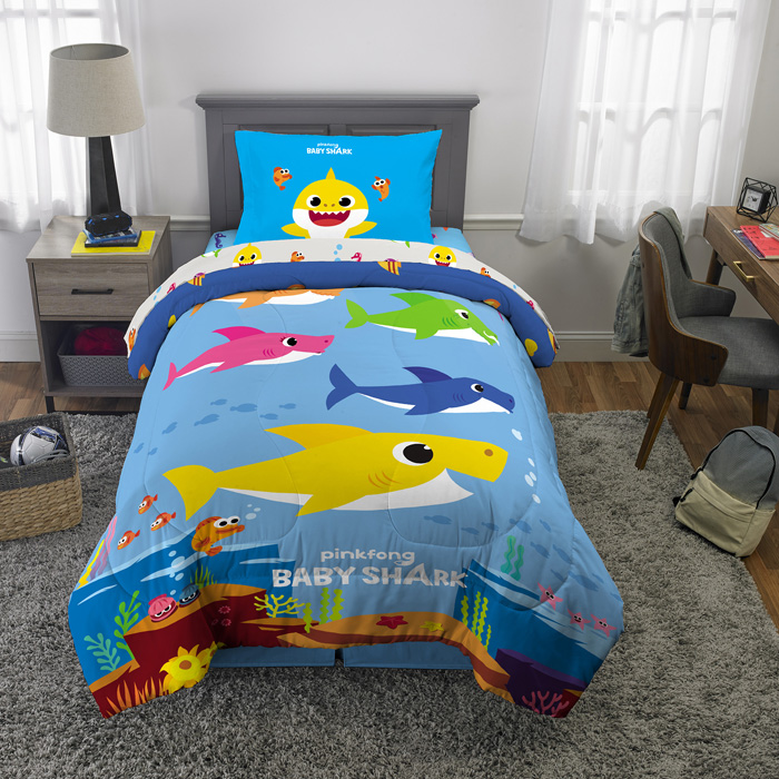 walmart exclusive baby shark bedding complete set twin
