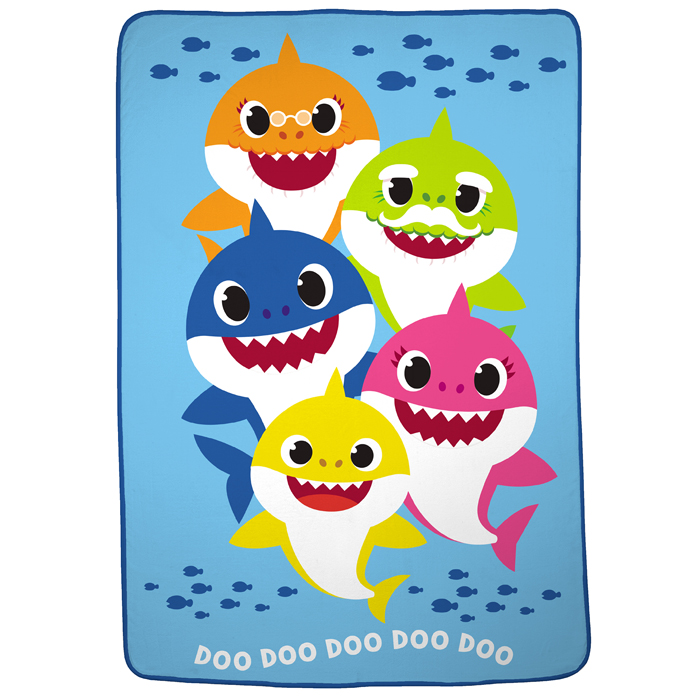walmart exclusive baby shark bedding plush blanket