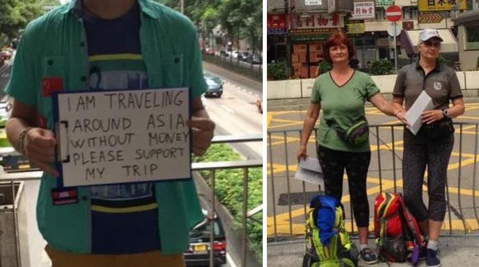 western begpackers in asia