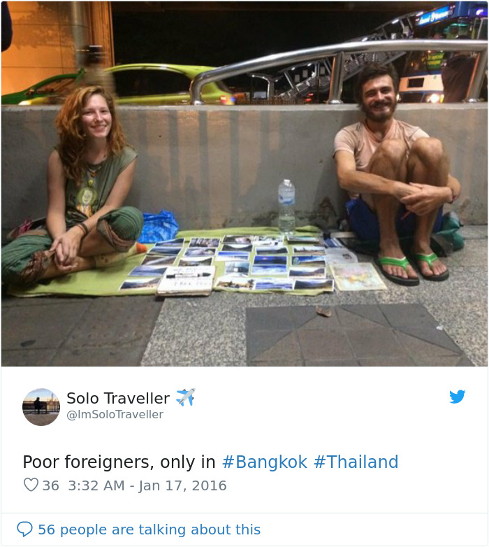western begpackers in thailand