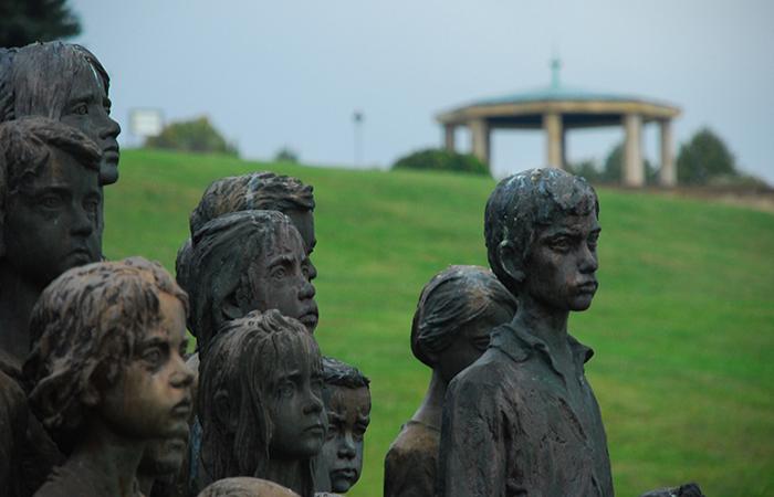 world war 2 victims children sculptures in lidice village czechoslovakia czech republic