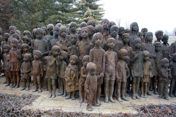 ww2 victims children sculptures in lidice village czechoslovakia czech republic
