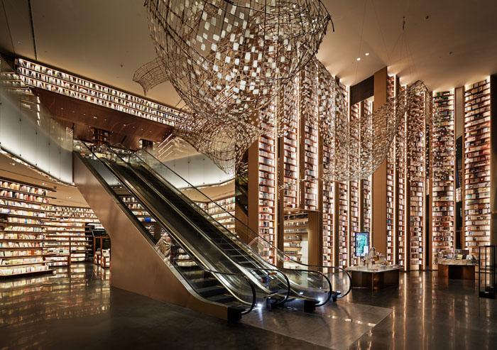 yjy maike centre flagship bookstore escalators