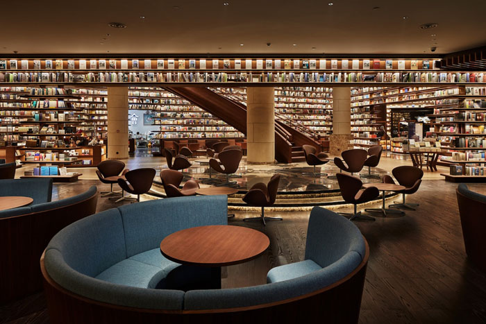 yjy maike centre flagship bookstore seating areas