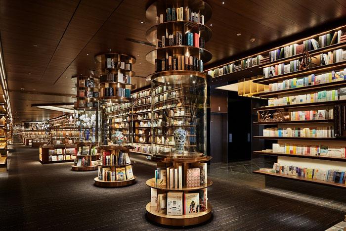 yjy maike centre flagship bookstore second level bookshelves