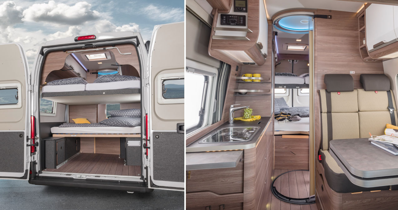 The Knaus Boxlife 630 Me Camper Van Can Accommodate 7