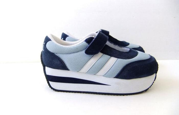 LEI Velcro Platform Sneakers shoe nostalgia