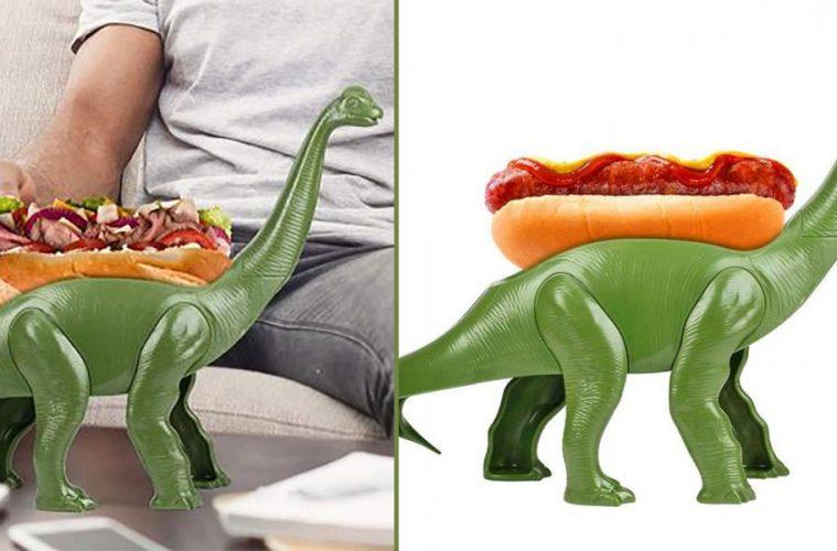 Weeniesaurus dinosaur hot dog holder