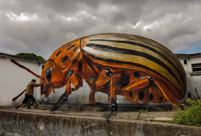 after art bug graffiti object transformations bus artist odeith