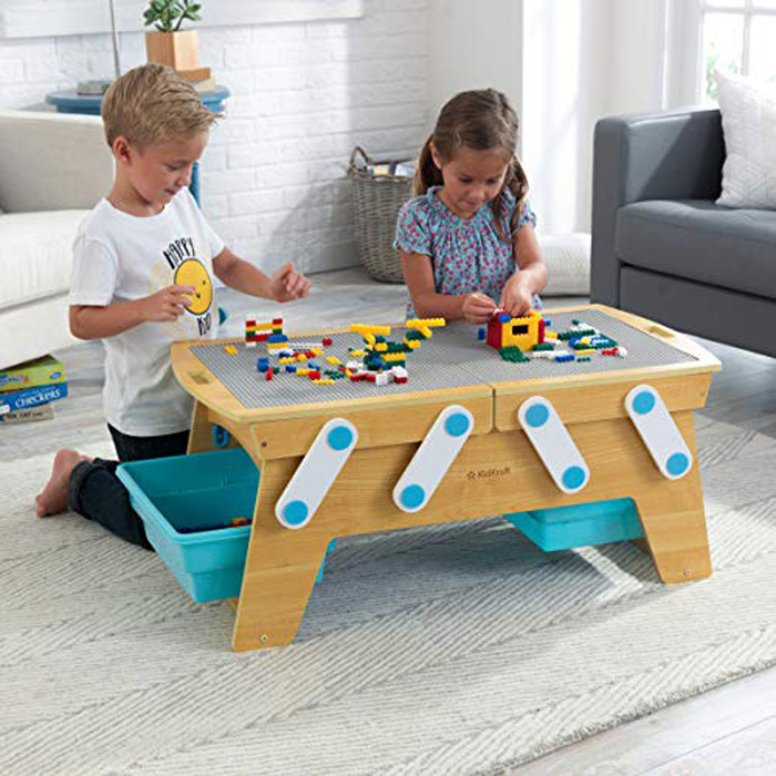 amazon building bricks play n store table