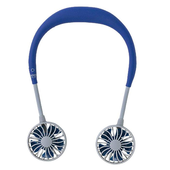 amazon portable neckband fan blue