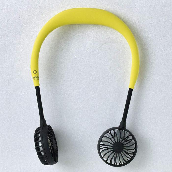 amazon portable neckband fan yellow