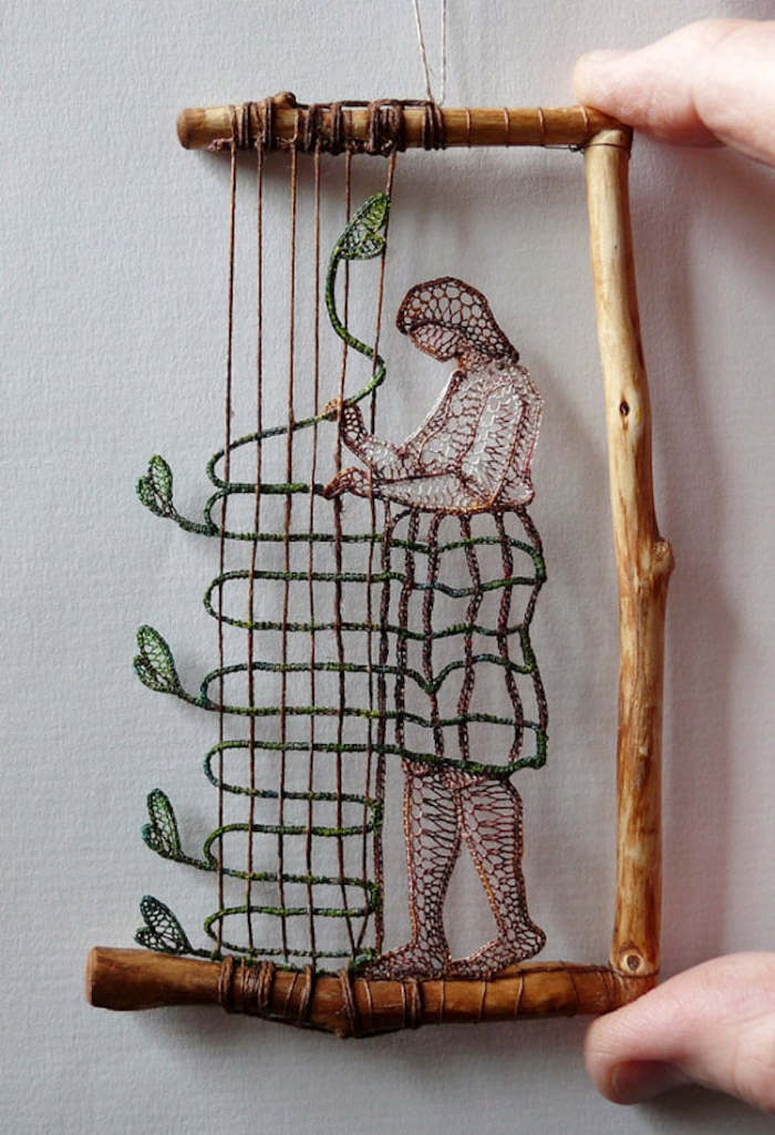 arranging the vine lace art agnes herczeg
