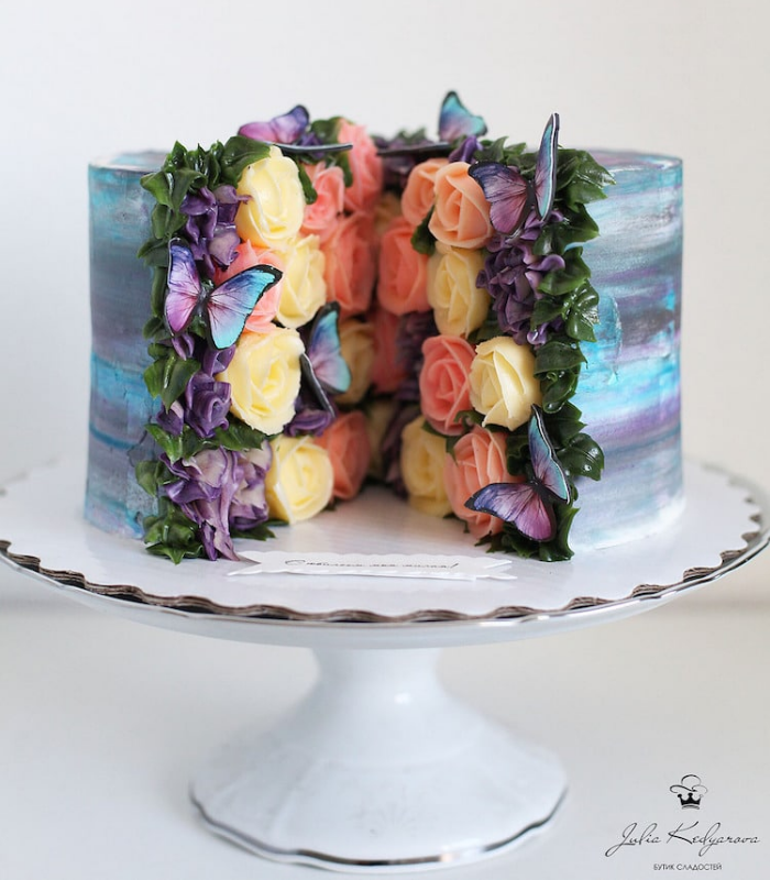 assorted roses cake art yulia kedyarova