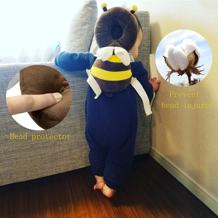 bee-shaped baby backpack protection pad