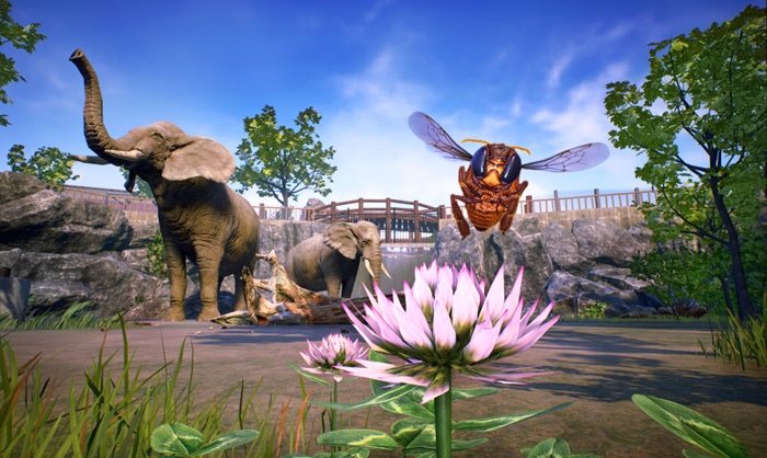bee simulator co-op gameplay elephant interaction