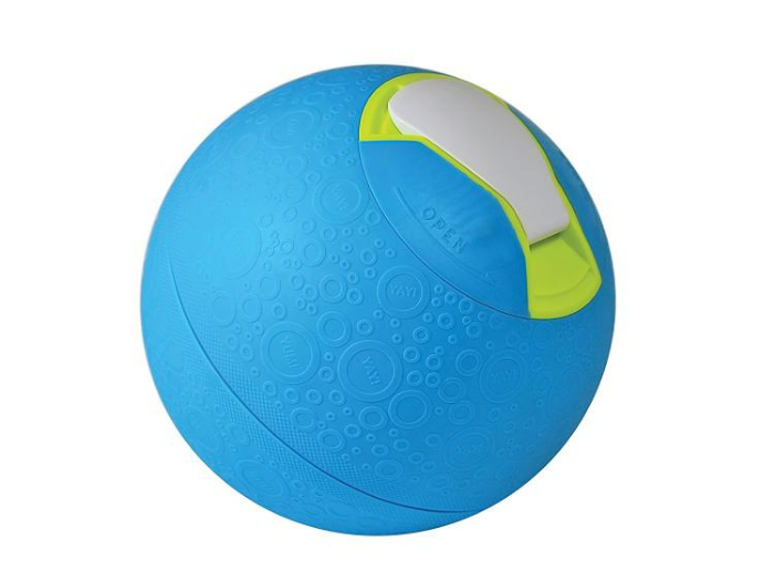 blue colored ice cream maker ball