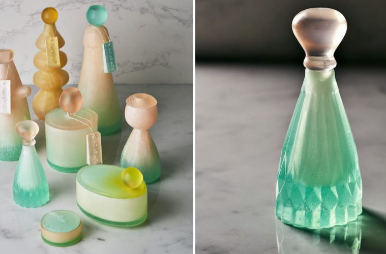 bottles made out of soap