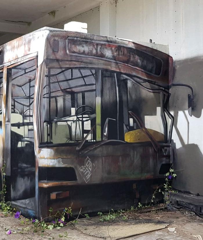 bus art graffiti object transformations bus artist odeith