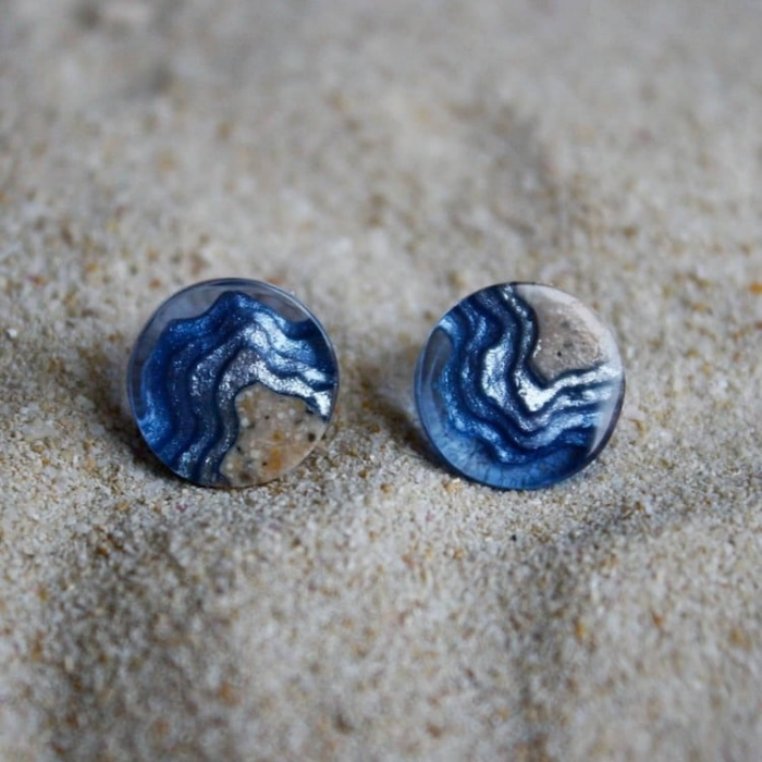 buttons sand and resin jewelry boldb