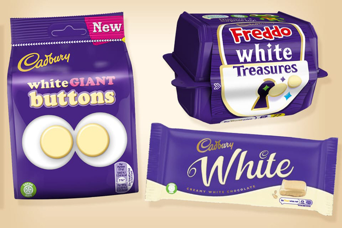 cadbury white chocolate range