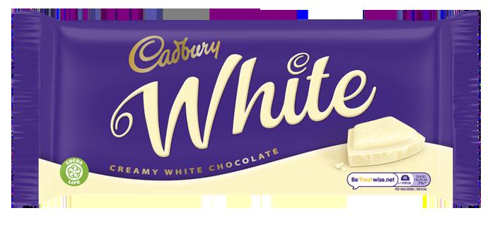 cadbury white creamy chocolate bar