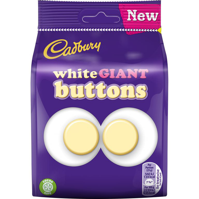 cadbury white giant buttons