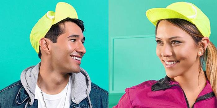 cap-sac fanny pack hat neon green