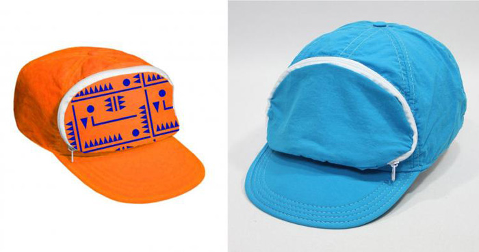 cap-sac fanny pack hat orange blue