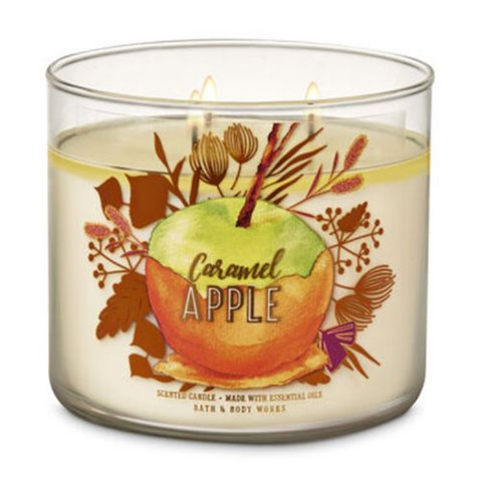 caramel apple bath and body works halloween candles and candle holders