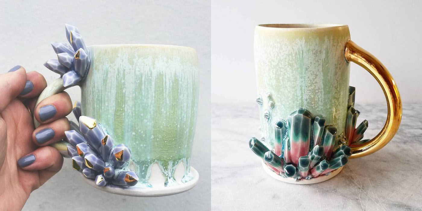 Ceramicist Katie Marks Creates Beautiful Ceramic Coffee Mugs That Double As Art Pieces