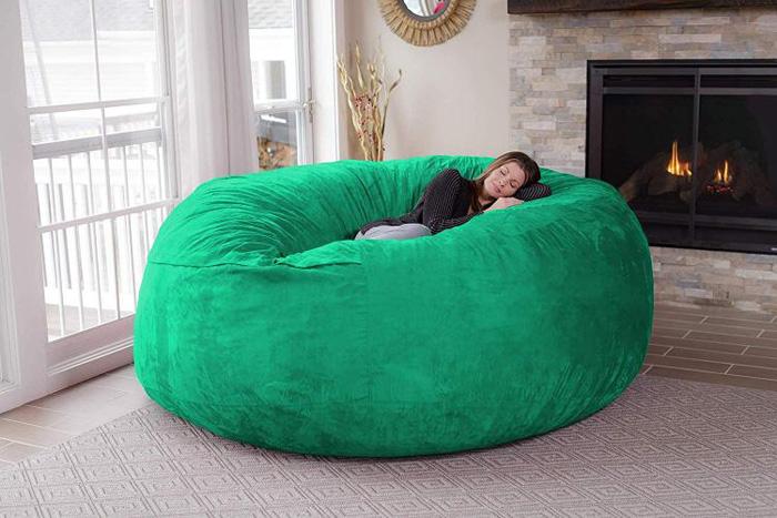 chill sack giant 8 foot bean bag chair aquamarine