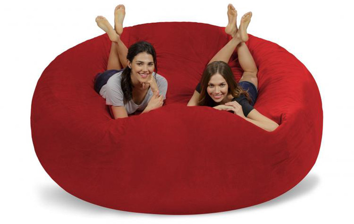 chill sack giant 8 foot bean bag chair multi-person use
