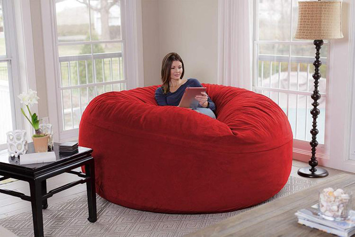 chill sack giant 8 foot bean bag chair red