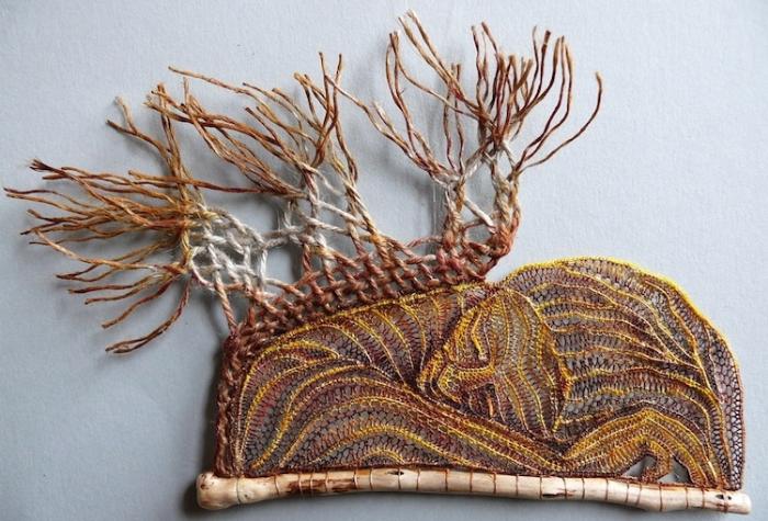 close up sleeping lace art agnes herczeg