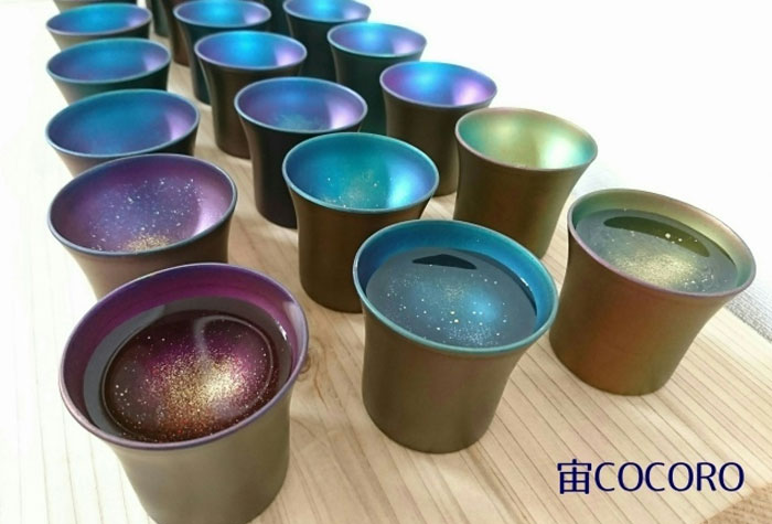 cocoro galaxy sake cups design