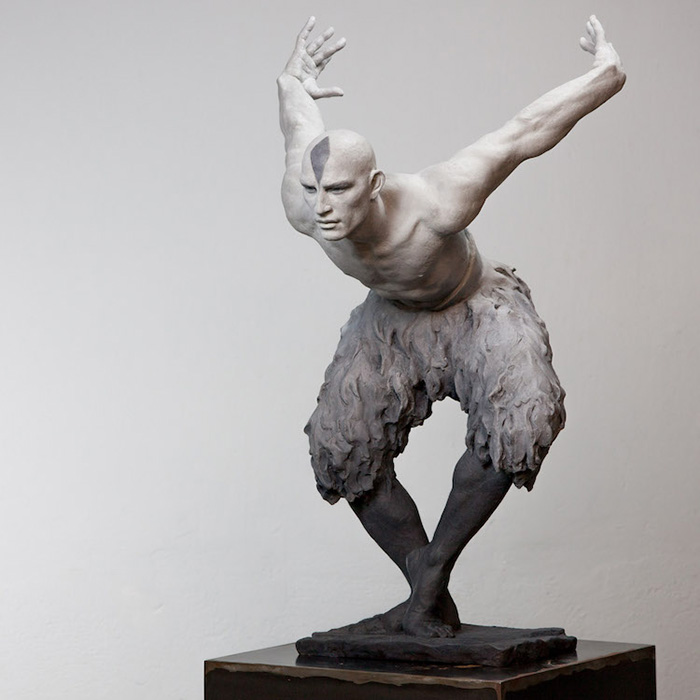 coderch malavia lifelike human sculptures the flight of the swan