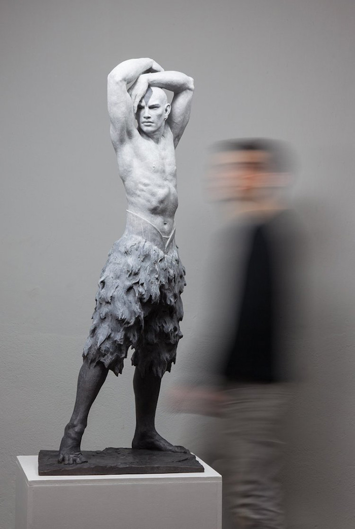 coderch malavia lifelike human sculptures the great swan