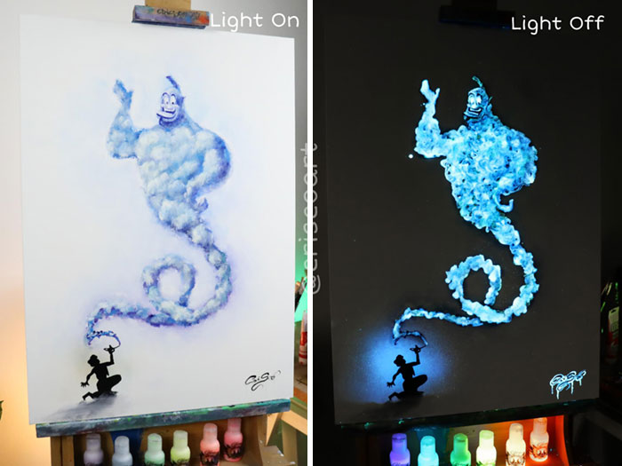cristoforo scorpiniti glow-in-the-dark paintings genie