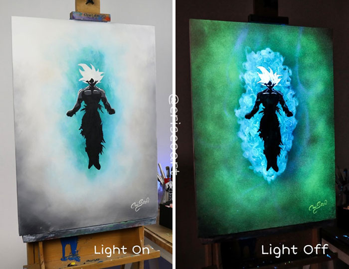 cristoforo scorpiniti glow-in-the-dark paintings gokou