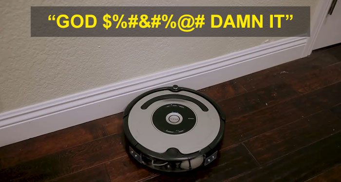 cursing and swearing roomba swears when bumps into stuff michael reeves