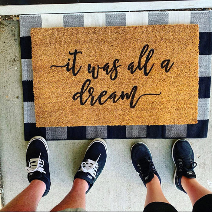 custom design doormat etsy