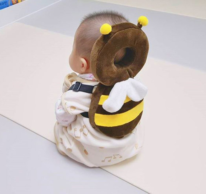 cute bee-shaped baby head protector
