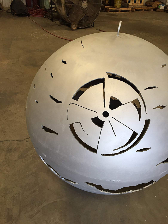 death star fire pits color gray