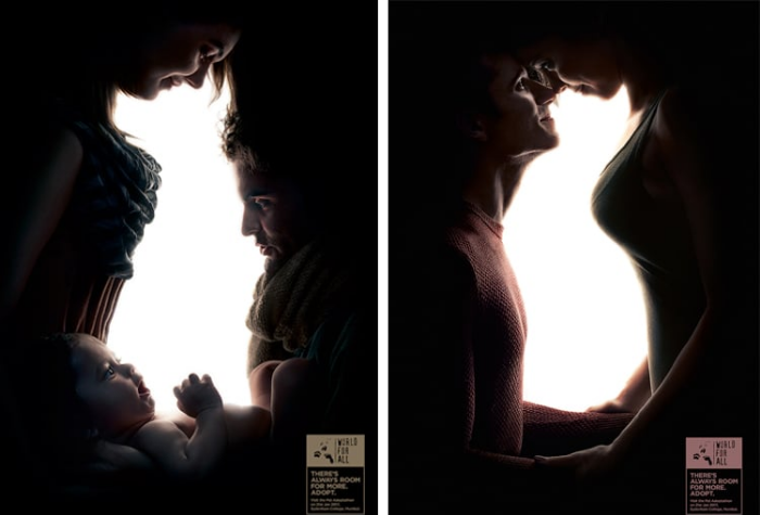 dog and cat creative pet adoption ad